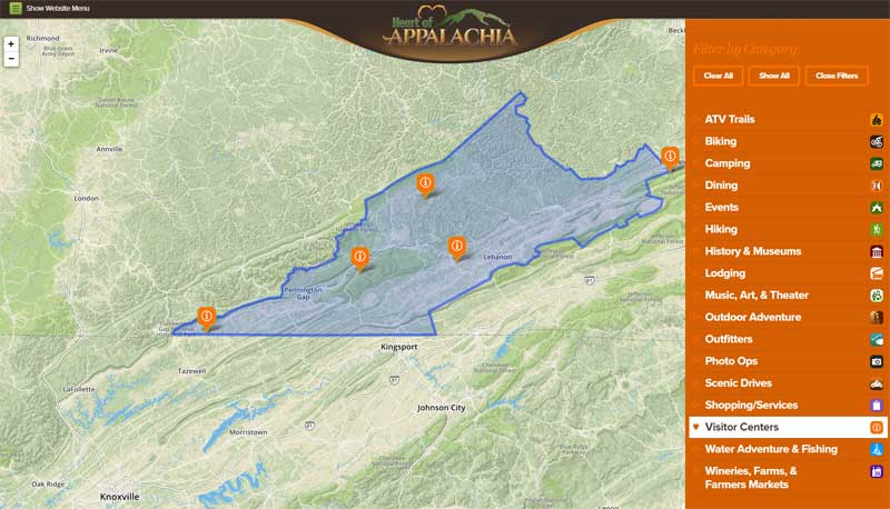 Heart of Appalachia Interactive Map